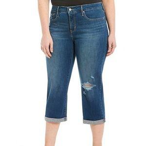 Levi's Shaping Capris Jeans Dark Wash Mid Rise